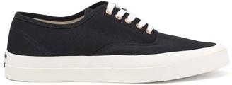 MAISON KITSUNÉ Heel-logo Cotton-canvas Trainers - Black