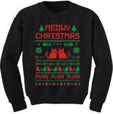 TeeStars Meowy Christmas Ugly Sweater Design - Cute Xmas Toddler/Kids Sweatshirts