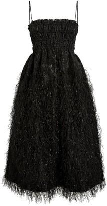 Ganni Feather Midi Dress