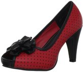 T.U.K. Women's A8179L Peep-Toe Pump