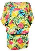 Anne Cole Women's Island Time Kangaroo Pouch Caftan Cover up
