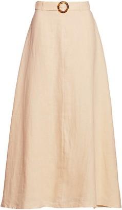 Faithfull The Brand Devon Midi Skirt