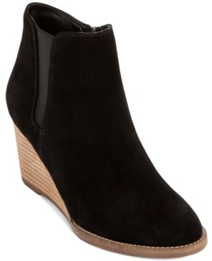 Aqua College Naila Waterproof Wedge Booties, Created for Macy's Women's Shoes