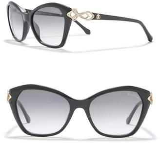 Roberto Cavalli Miniato 55mm Squared Cat Eye Sunglasses
