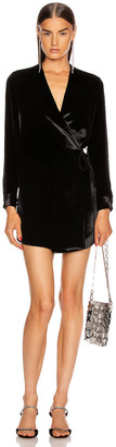 Mason by Michelle Mason for FWRD Dress Jacket in Black Solid   FWRD