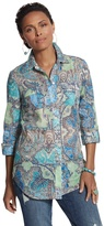 Chico's Celia Multi-Print Button-Down Shirt