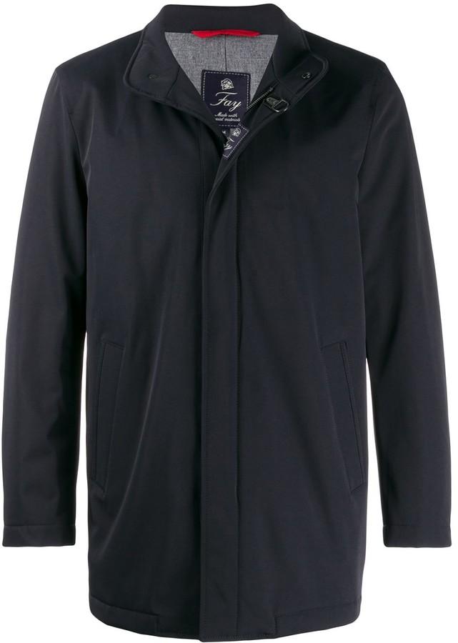 Fay zip front rain jacket