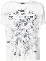 R 13 printed T-shirt - men - Cotton/Cashmere - M