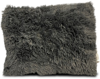 Heritage Club Grey Long Faux Fur Bed Pillow