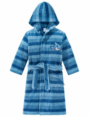 Schiesser Boys' Captn Sharky Bademantel Dressing Gown