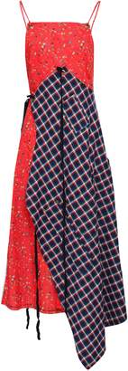 R 13 Paneled Printed Cotton Midi Dress