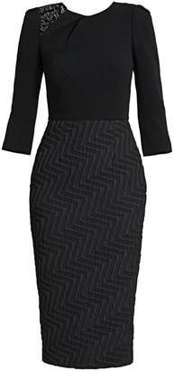 Roland Mouret Palatine Textured Sheath Dress