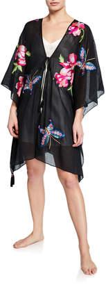 Josie Natori Paradise Embroidered Lounge Kimono
