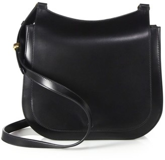 The Row Hunting Bag 9 Leather Shoulder Bag