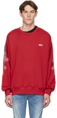 Amiri Red Dragon Outline Sweatshirt