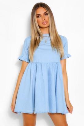 boohoo Chambray Smock Dress