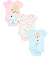 Children's Apparel Network Pink Disney Princess Cinderella Bodysuit Set - Infant