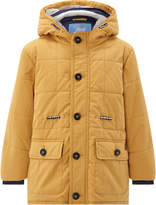 Monsoon Matty Mustard Parka Coat