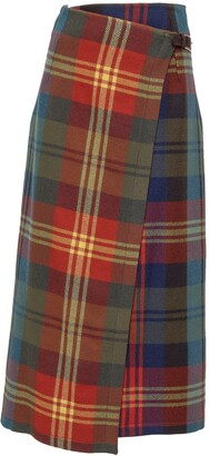Etro Checked High Waisted Skirt