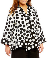 IC Collection Plus One Button Asymmetrical Jacket
