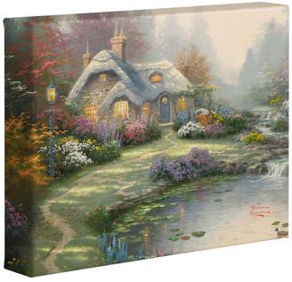 "Thomas Laboratories Kinkade Everett's Cottage Gallery Wrapped Canvas, 8""x10"""