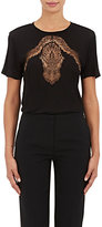 Nina Ricci Women's Lace-Inset T-Shirt-BLACK