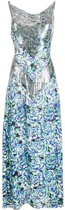 Paco Rabanne Embellished Floral Dress