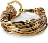 Saachi Gold-Tone & Brown Bracelet