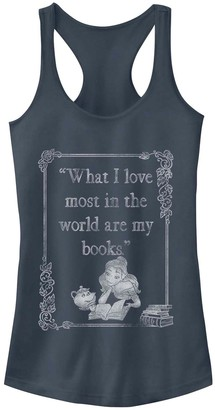 Licensed Character Juniors' Disney's Beauty And The Beast Belle Book Lover Tank