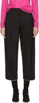 Jil Sander Navy Black Cropped Wide-leg Trousers