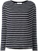 Closed striped top - women - Cotton - XS