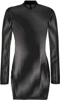 Maison Close Striped Sheer Dress