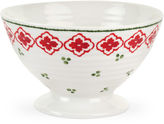 Portmeirion Candy Cane Footed Christmas Bowl