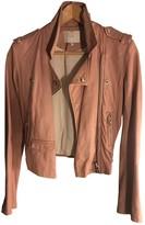 IRO Pink Leather Leather jackets