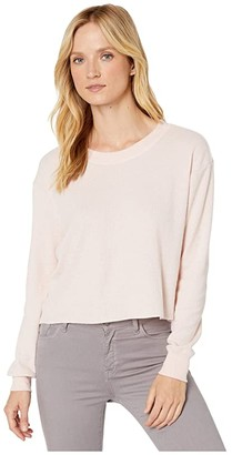 Alternative Thermal Long Sleeve Cropped Tee (Vintage Faded Pink) Women's T Shirt