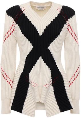 Alexander McQueen Intarsia Wool & Cashmere Knit Sweater