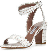 Tabitha Simmons Leticia Eyelet Leather City Sandal, White