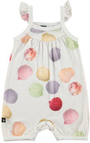 Molo Faline Ice Cream Overall Playsuit, White, Size 3-12 Months