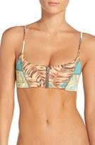 Maaji 'Hot to Trot' Reversible Front Zip Bikini Top