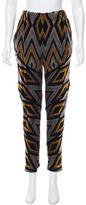 Proenza Schouler Geometric Patterned Velvet Pants