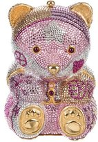 Judith Leiber Embellished Teddy Bear Clutch