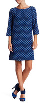 Mariella Rosati Baina 3/4 Length Sleeve Printed Silk Dress