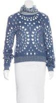 Christian Dior Mohair Eyelet Sweater