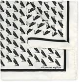 Alexander Mcqueen - Raven-print Silk-twill Pocket Square