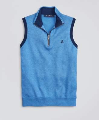 Brooks Brothers Boys Supima Cotton-Blend Half-Zip Sweater Vest
