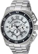 Invicta Men's 'Pro Diver' Quartz Stainless Steel Casual Watch, Color:-Toned (Model: 21951)