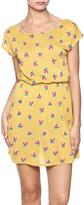 Sweet Claire Mustard Bird Dress