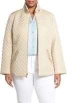 Ellen Tracy Plus Size Women's Zip Front Quilted Jacket