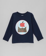 Swag Navy Pirate Ship Personalized Tee - Kids