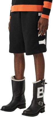 Burberry Men's Fawnley Logo Relaxed Knit Shorts